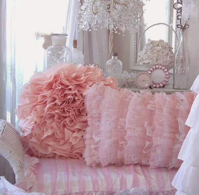 pink bedroom cushions 35 best shabby chic bedroom design and decor ideas for 2017 12835