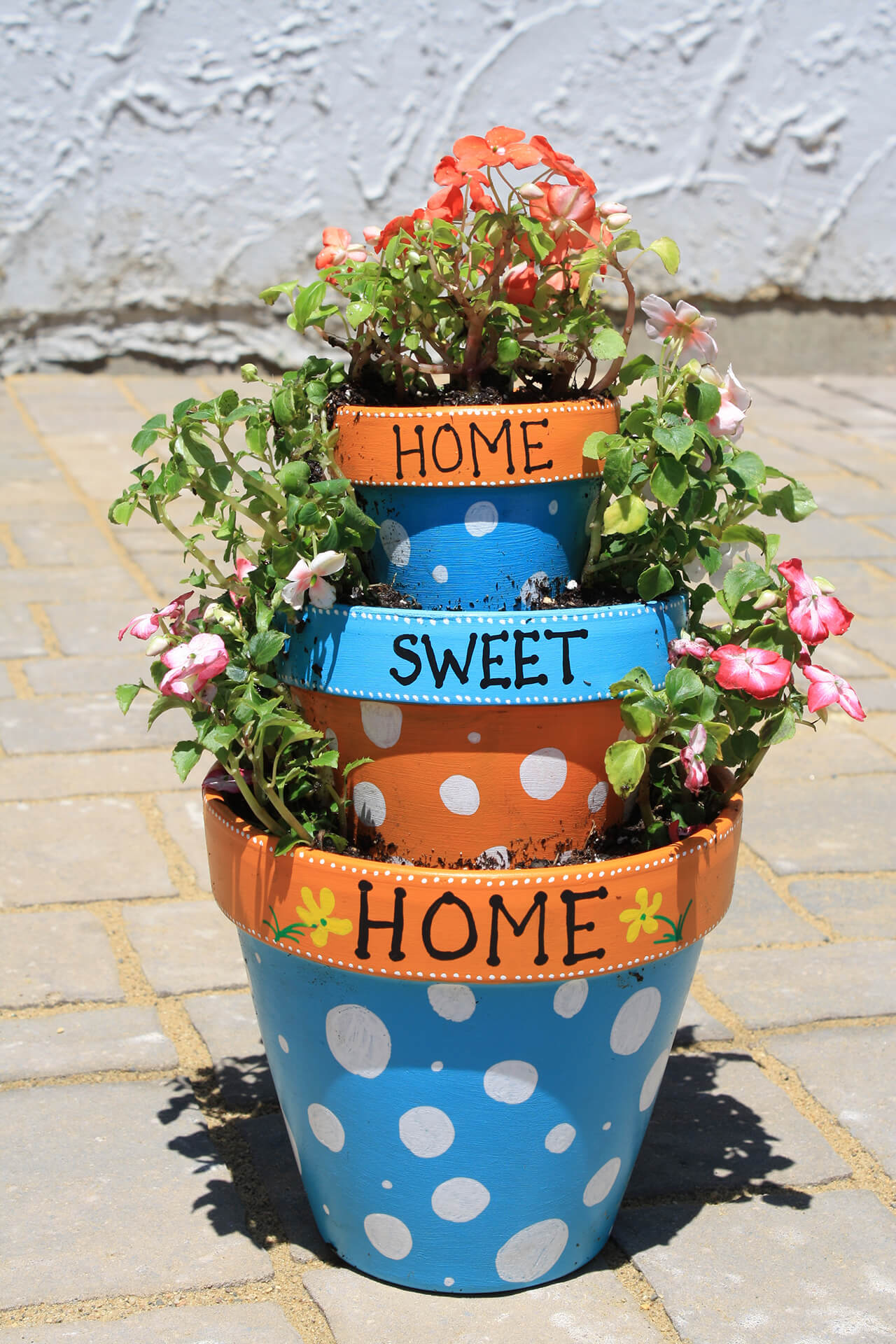 Home Sweet Tiered Flower Pot Planter
