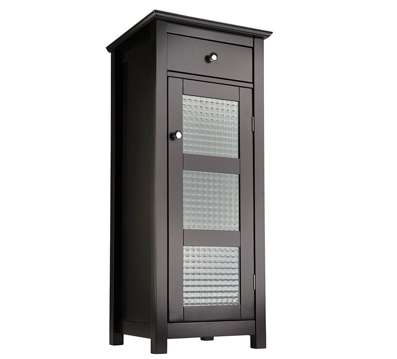 Bathroom floor storage cabinet - Elegant Home Fashions Chesterfield Collection Floor Cabinet