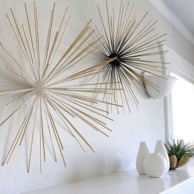 DIY Bamboo Skewer Wall Decor