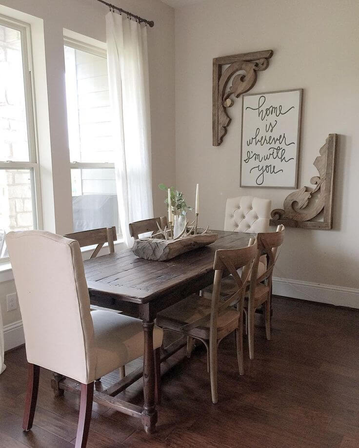 Best farmhouse dining room decorating ideas images for Decorating your dining room ideas