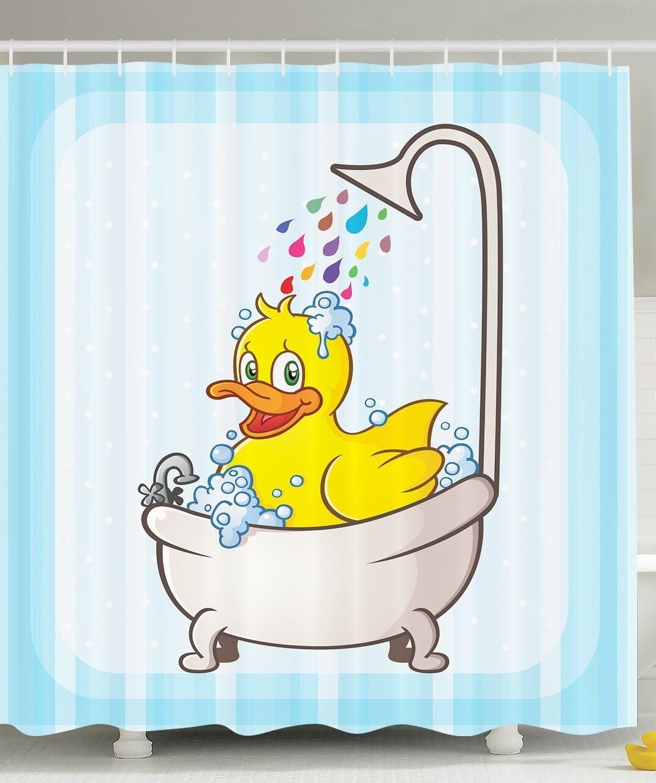 Rubber Duck Bath Time Curtain