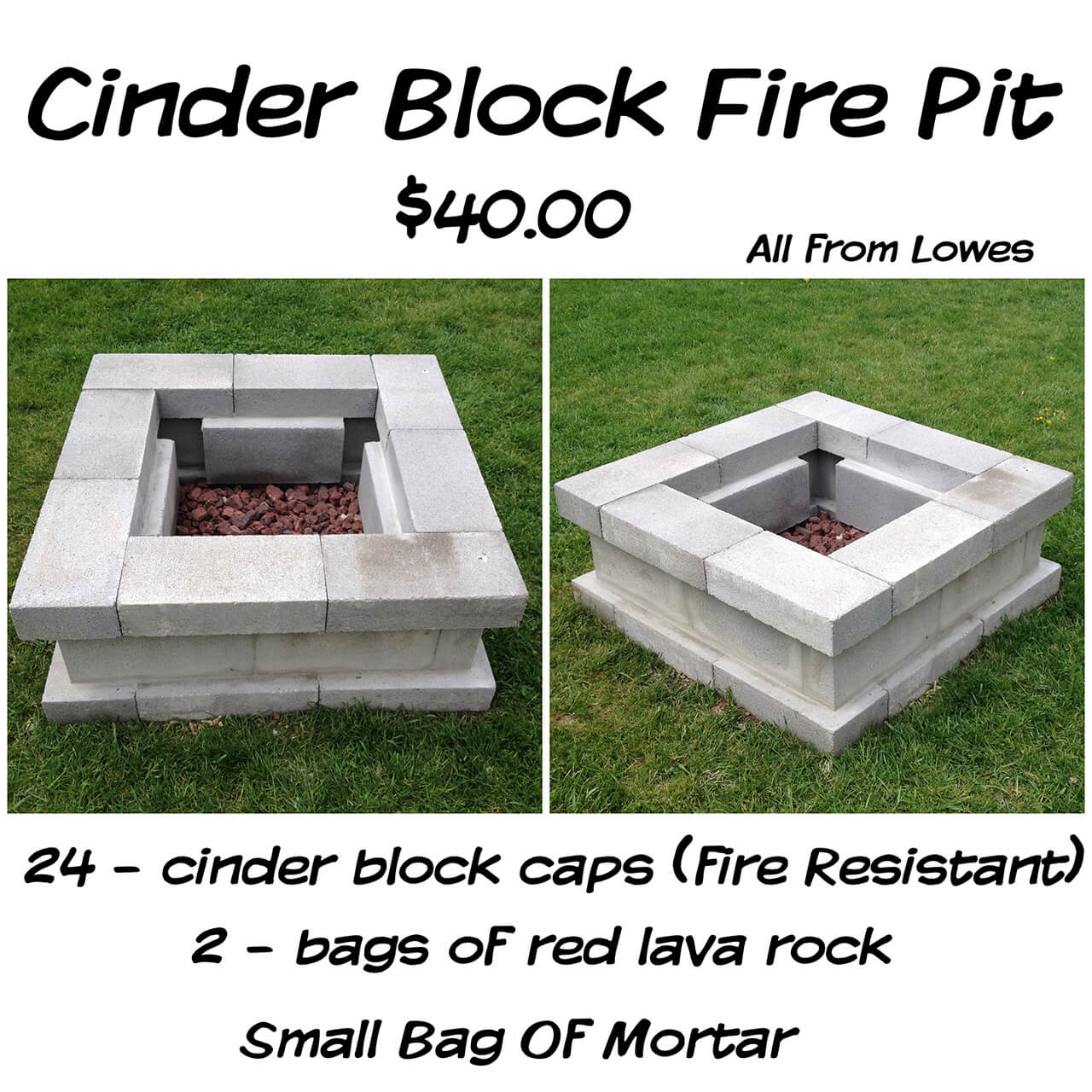 Easy $40 Cinderblock DIY Firepit