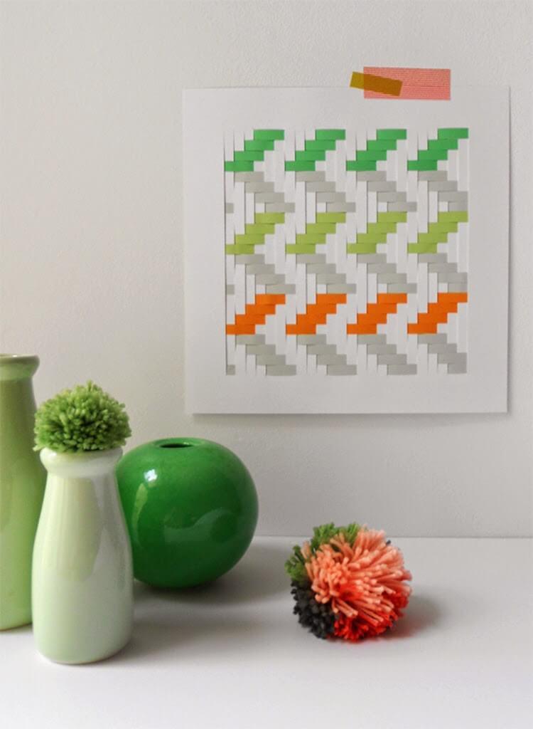 Woven Paper Wall Art Tutorial