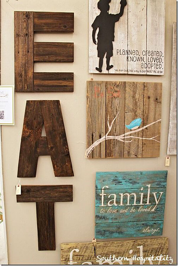 Rustic Decor With Real Wooden Planks