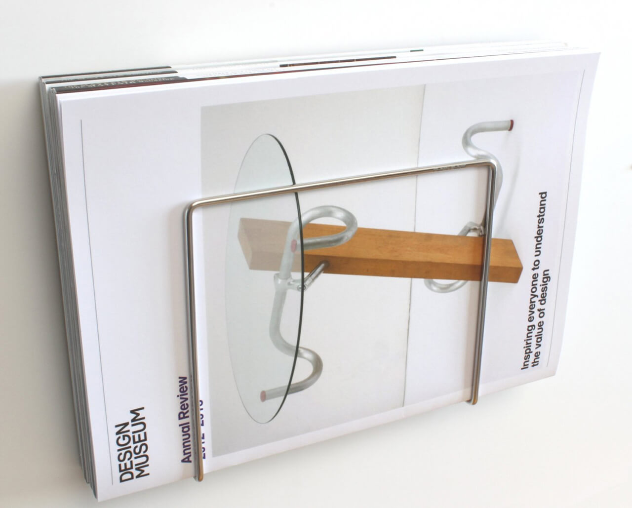 Modern Stainless Wall Magazine Rack
