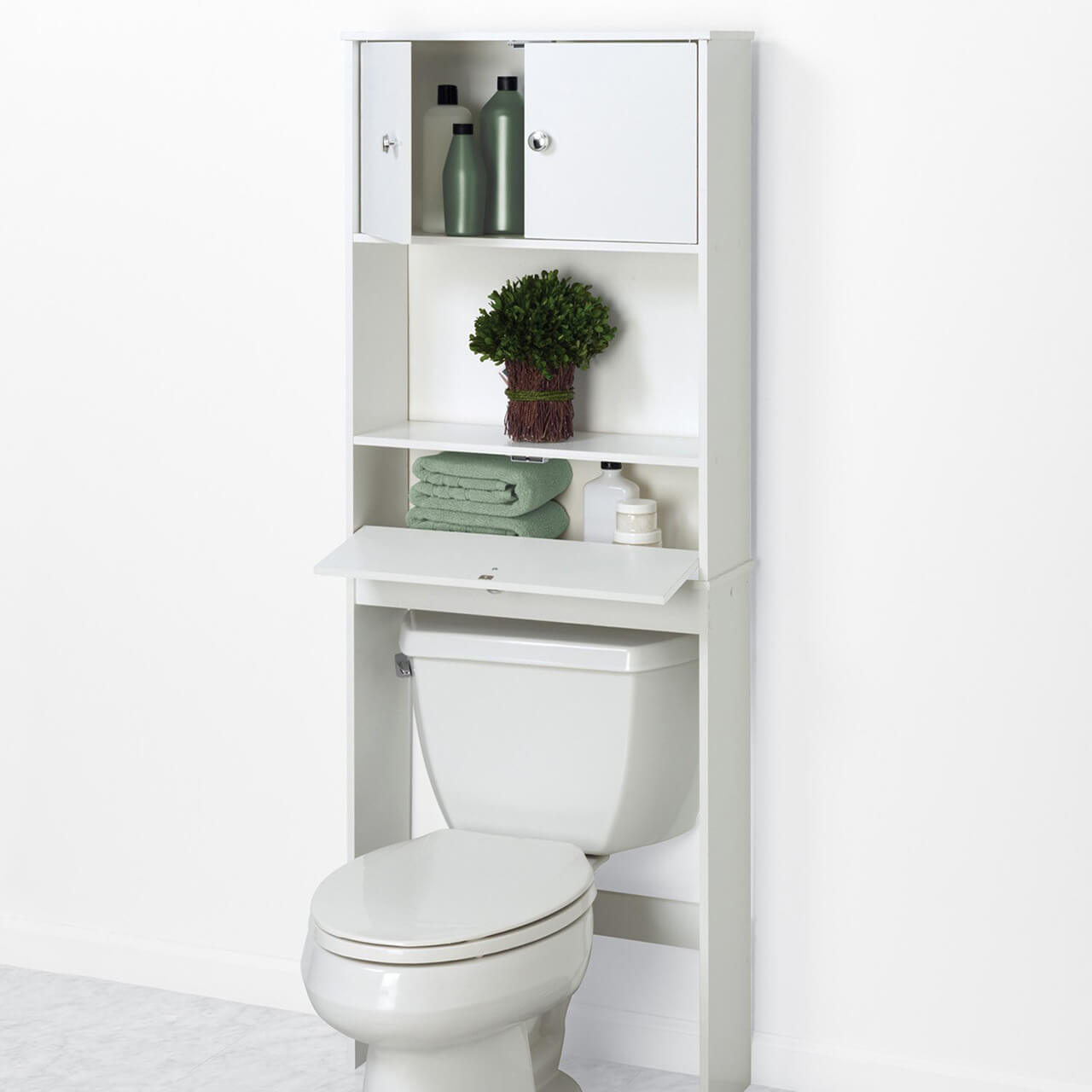 Zenna Home Drop Door Bathroom Spacesaver