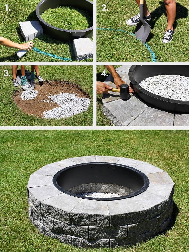 build your own concrete block firepit - Firepit Ideas