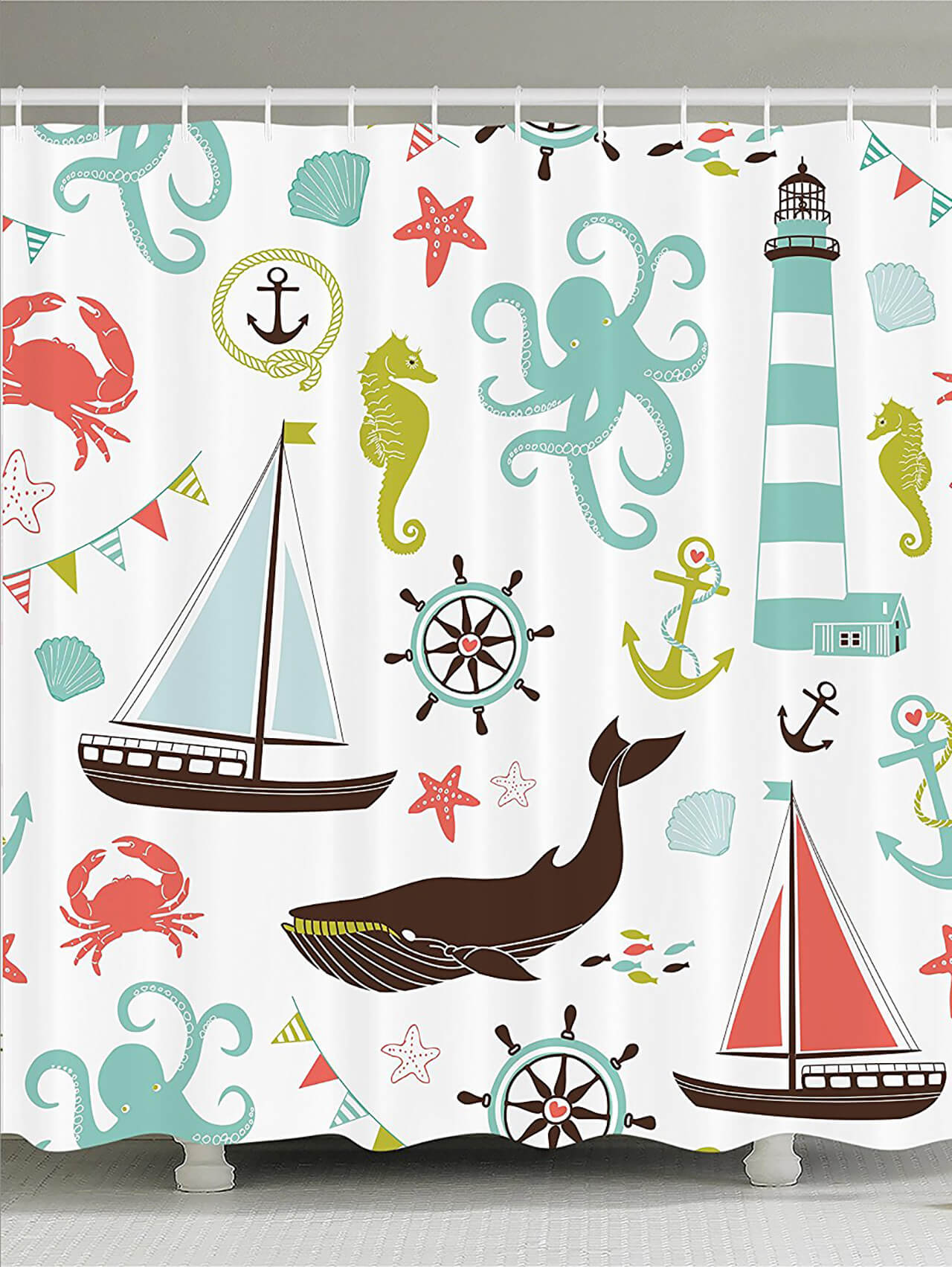 Nautical Adventures Shower Curtain