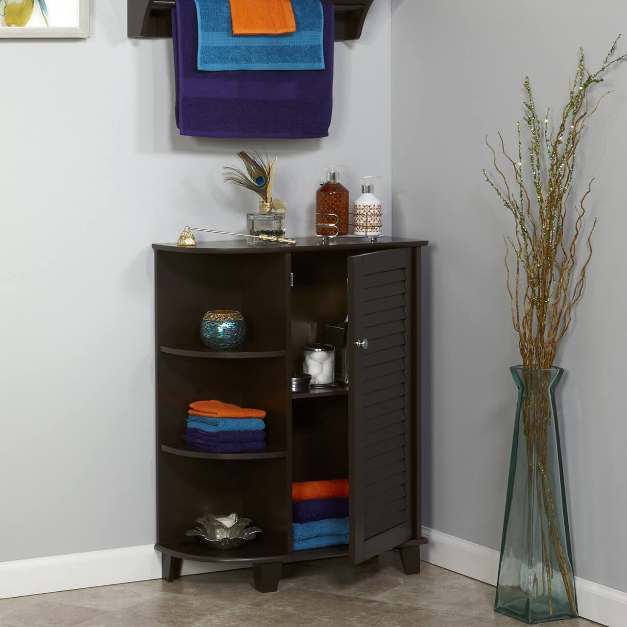 RiverRidge Ellsworth Floor Cabinet with Side Shelves