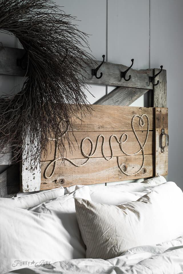 Rustic Love Wood and Twine Art