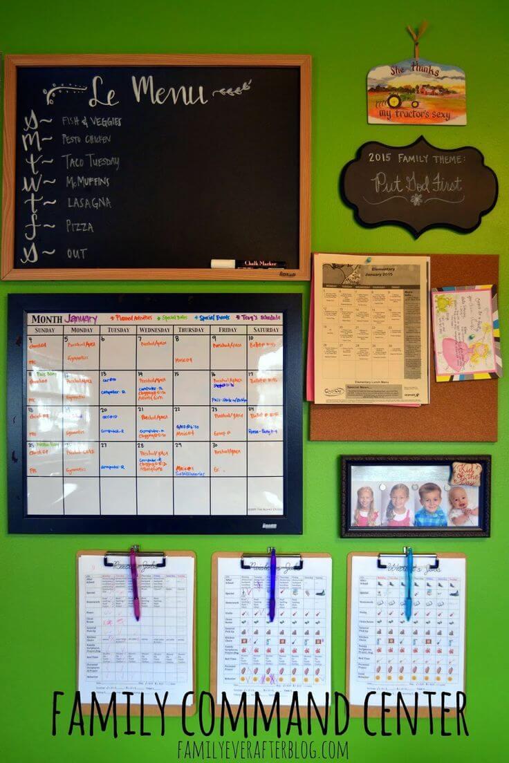 Get Organized: 17 Command Center Ideas