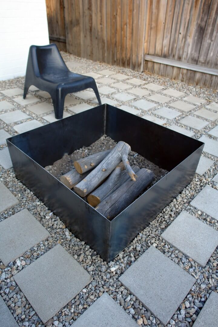 Super Simple Square Metal Firepit