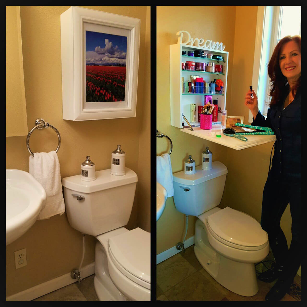 My Flip Frame Medicine Cabinet  sc 1 st  Homebnc : bathroom sink and toilet cabinets - Cheerinfomania.Com