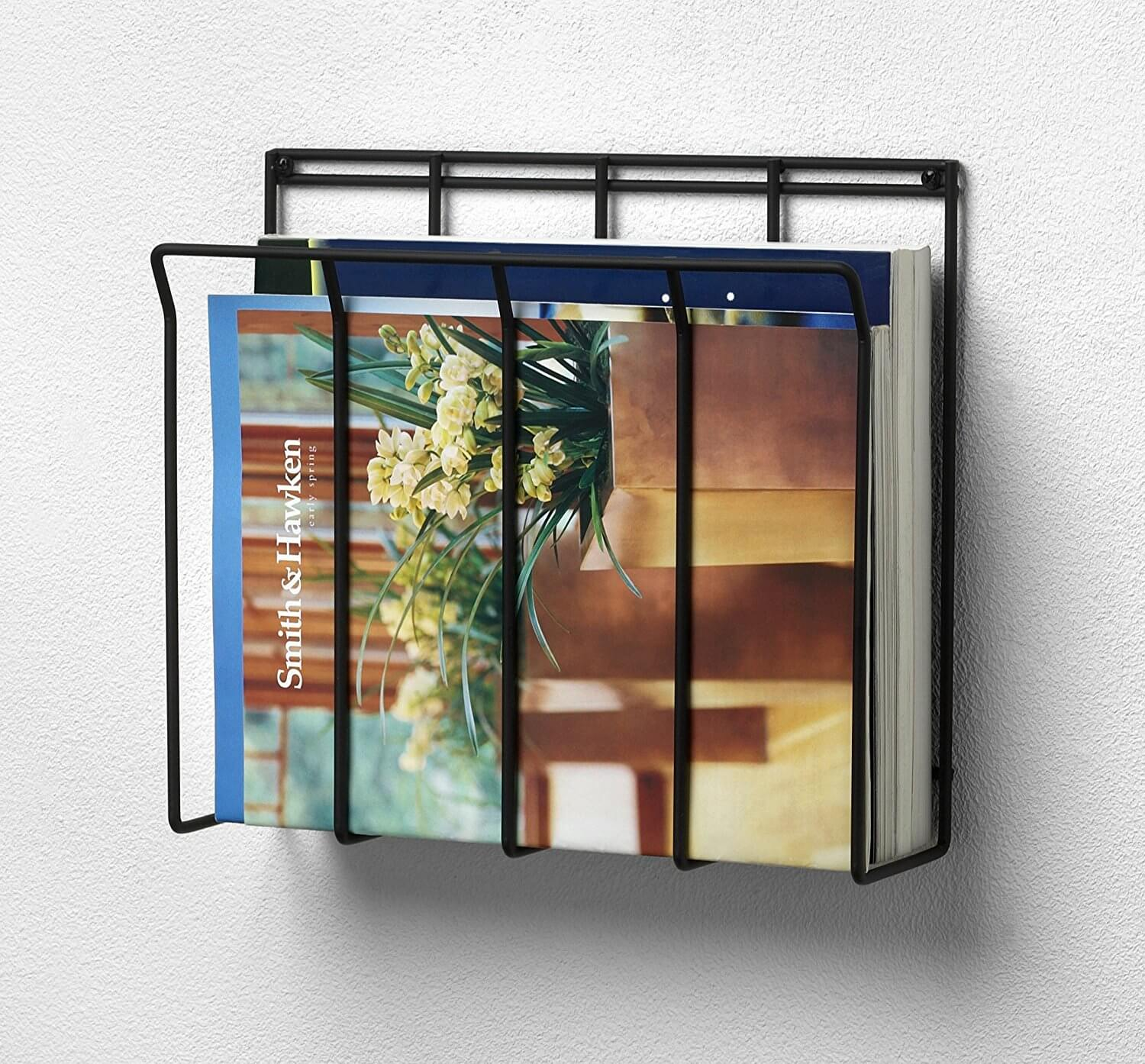 Black Wire Bathroom Magazine Holder