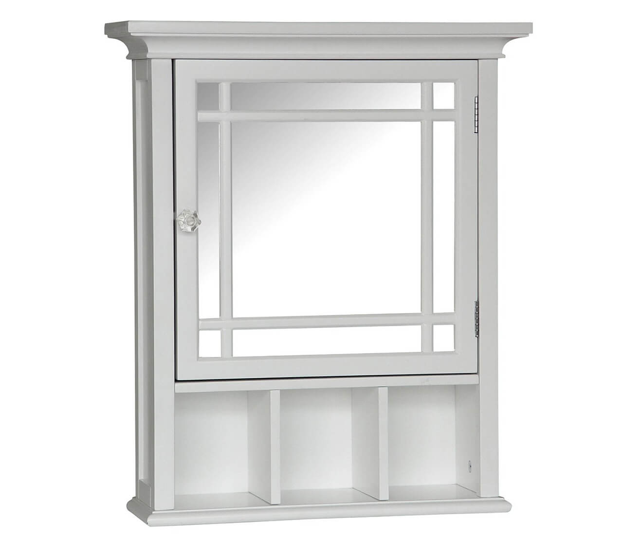 Elegant Home Fashions Neal Collection Mirrored Medicine Cabinet