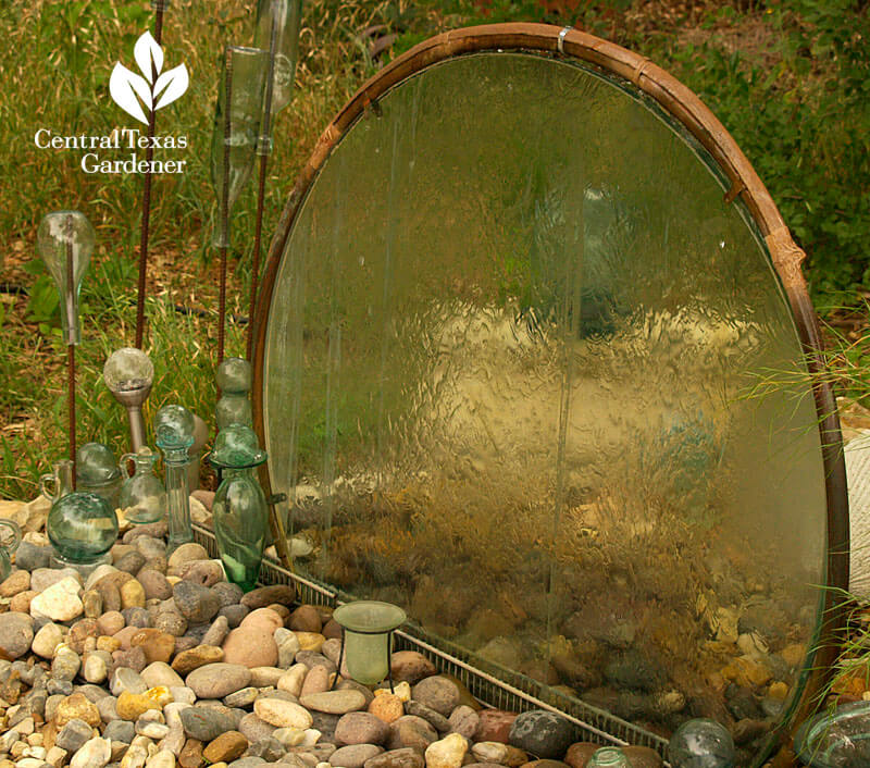 Upcycled Glass Table Water Feature