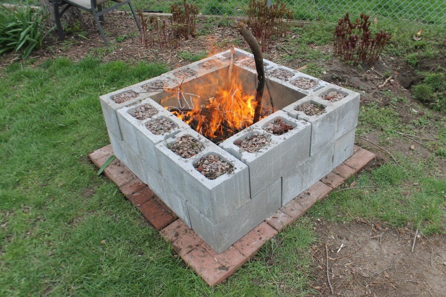 build your own cinder block firepit - Firepit Ideas