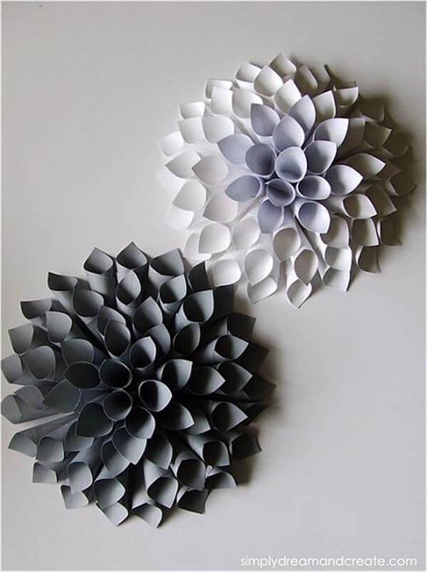 Easy DIY Paper Dahlia Decorations
