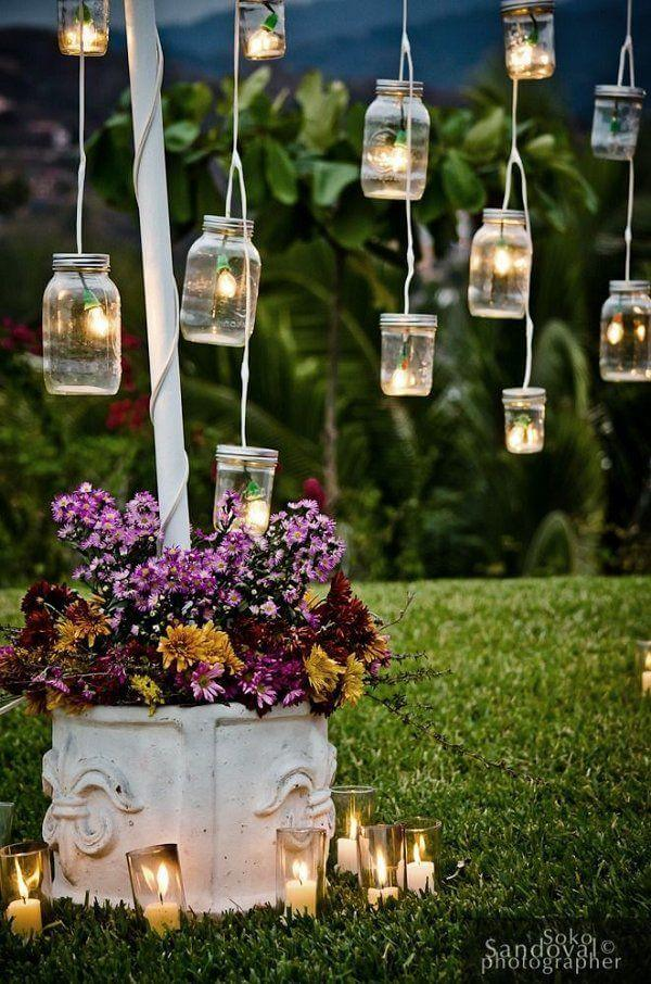 Garden Decor Ideas garden dcor ideas 25 Easy Diy Mason Jar Lanterns