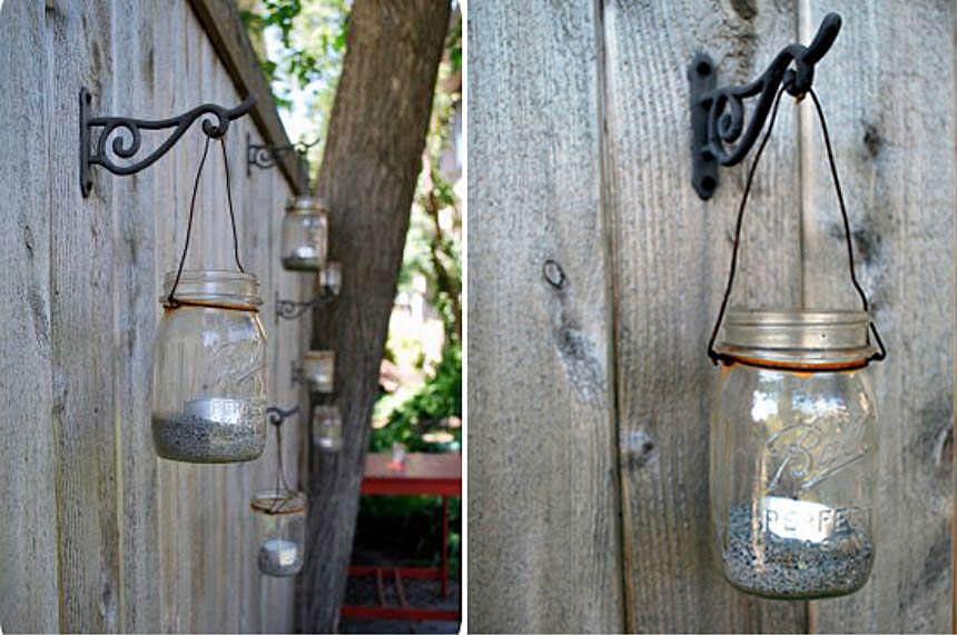 Rustic Mason Jar Garden Lanterns