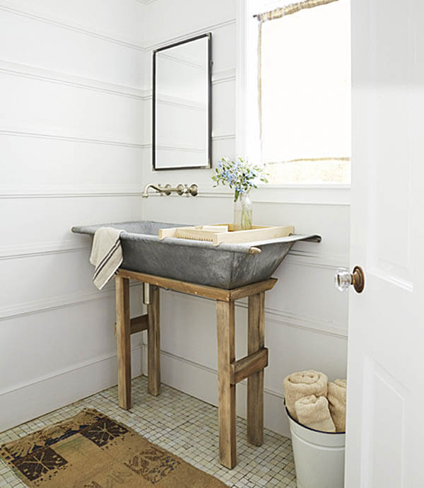 36 best farmhouse bathroom design and decor ideas for 2019 rh homebnc com Unique Bathroom Sinks Country Bathrooms with Beadboard
