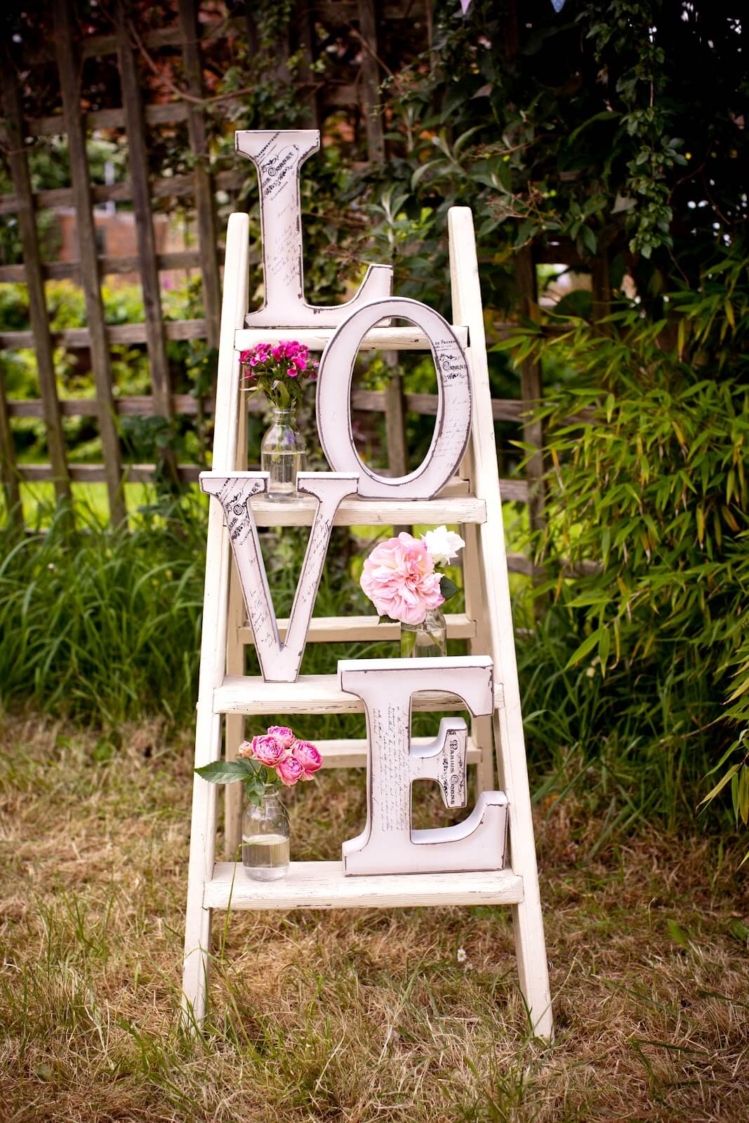 Love Ladder and Vase Garden Display