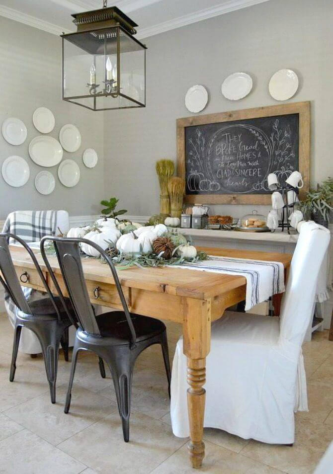 37 best farmhouse dining room design and decor ideas for 2017 for Dining room wall design