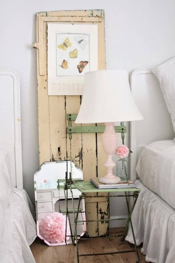 34  Upcycled Antique Chair Night Table. 35 Best Shabby Chic Bedroom Design and Decor Ideas for 2017