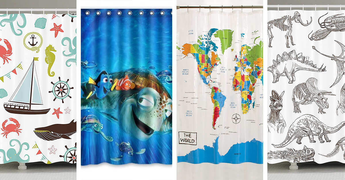 22 Best Kid\'s Shower Curtain Ideas for 2018