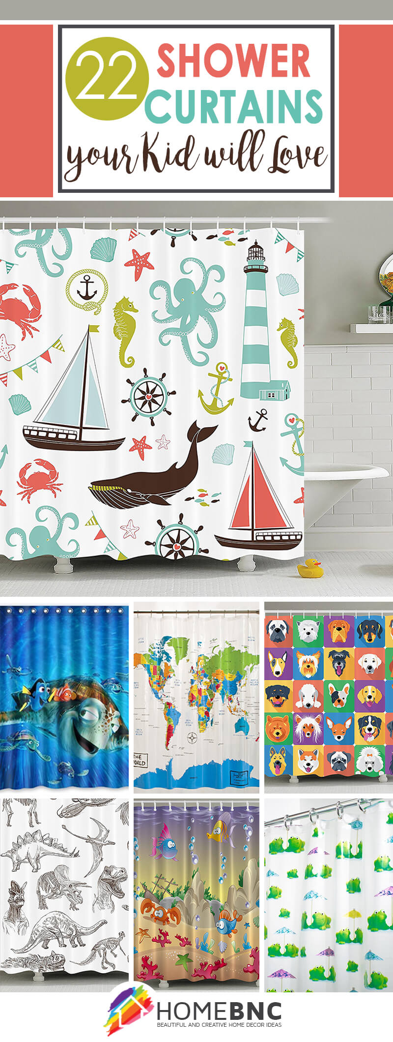 Kid's Shower Curtain Ideas