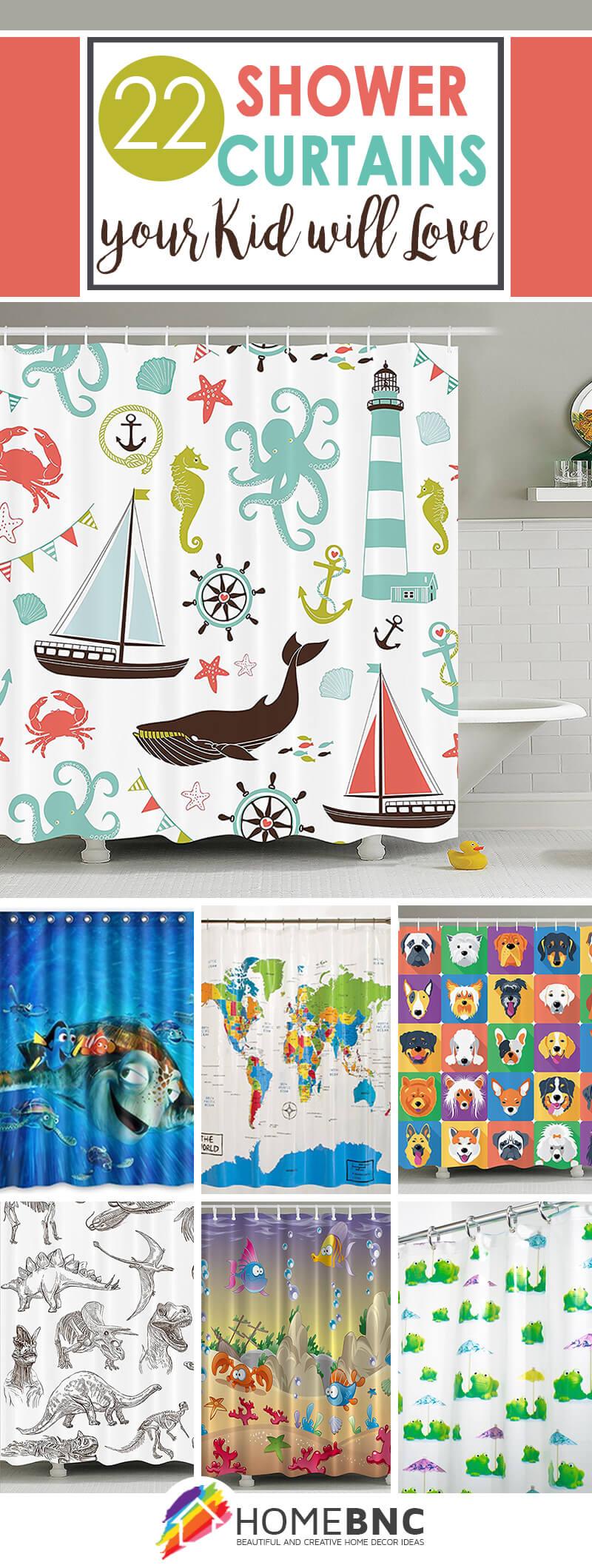 Kidu0027s Shower Curtain Ideas