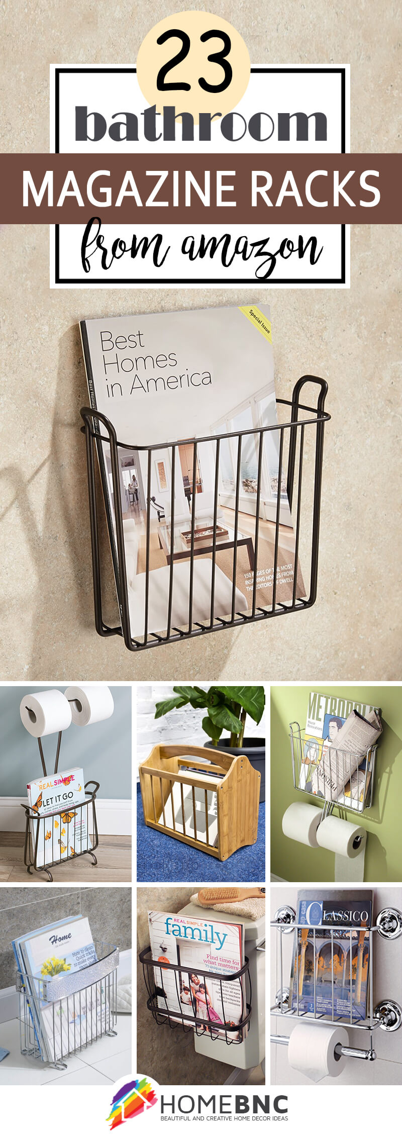 23 Best Bathroom Magazine Rack Ideas To