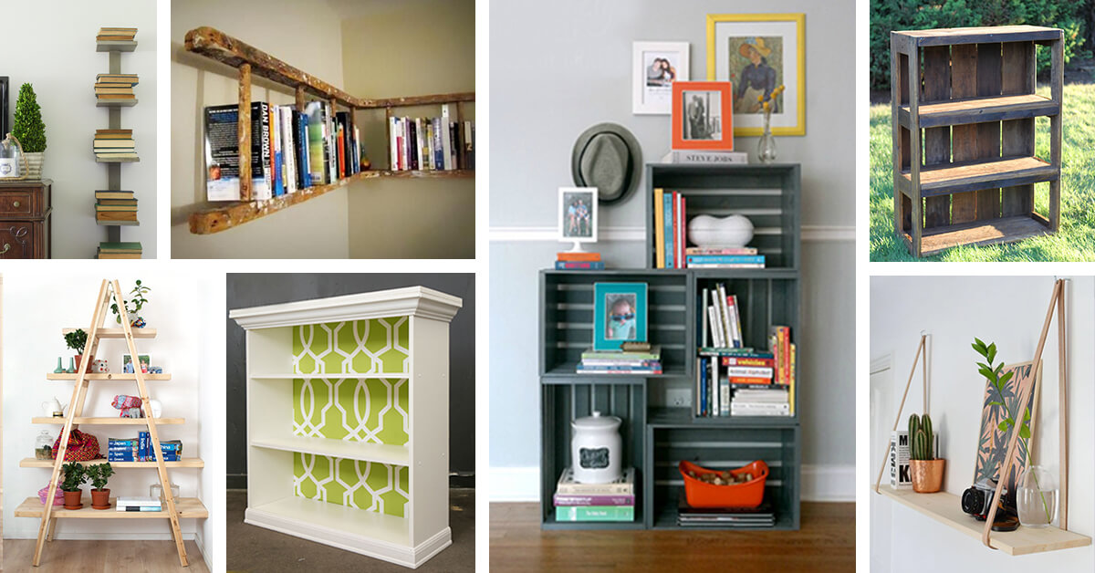 26 Best DIY Bookshelf Ideas And Designs For 2018