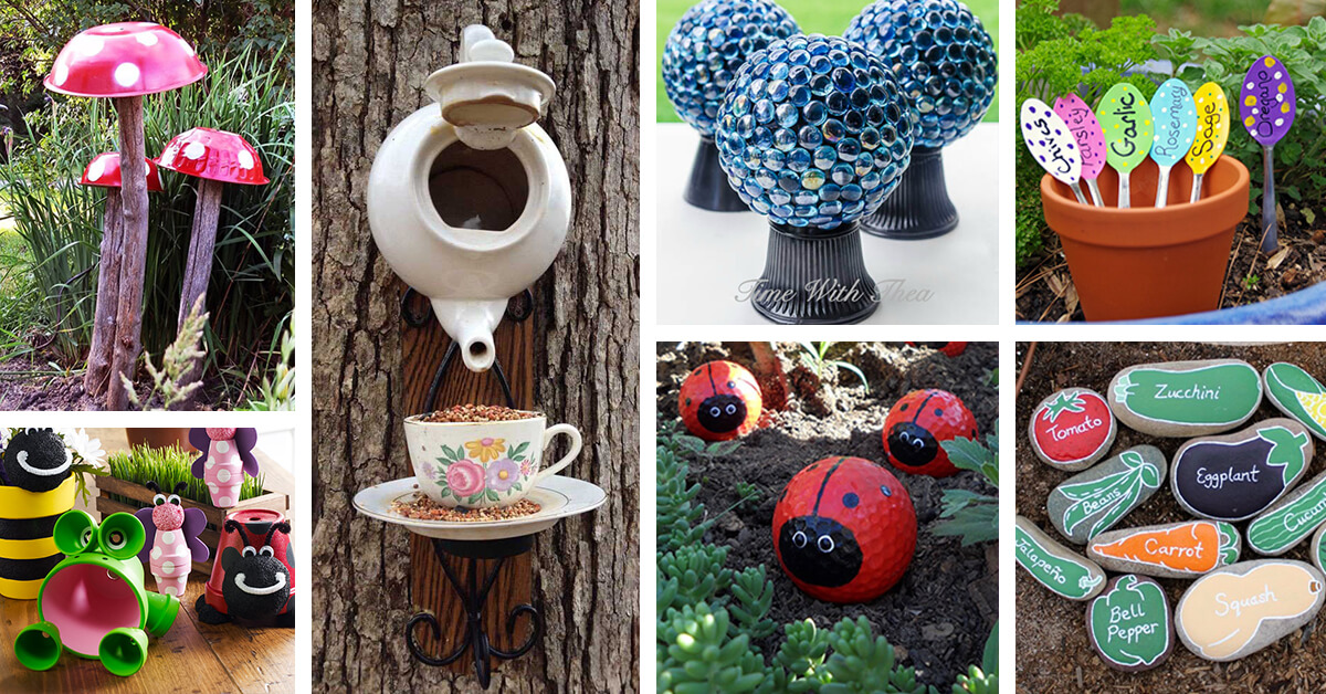 29 best diy garden crafts ideas and designs for 2018 for Homemade garden decor crafts