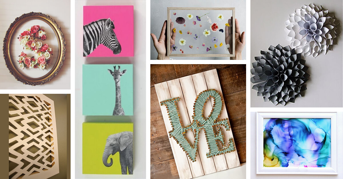 36 Best DIY Wall Art Ideas (Designs And Decorations) For 2017