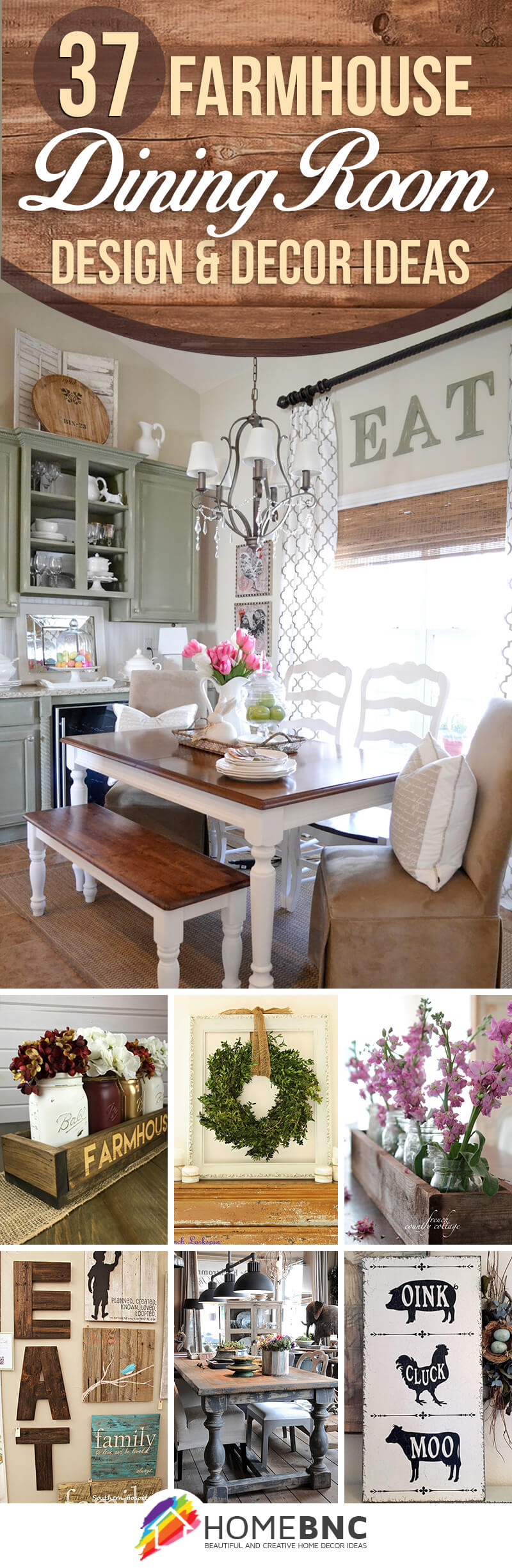 17 charming farmhouse dining room design and decor ideas for Best farmhouse dining rooms