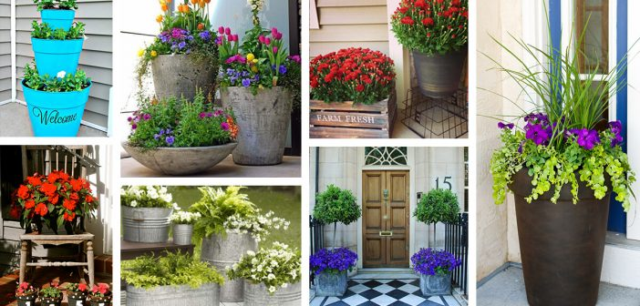 29 Best Front Door Flower Pots Ideas And Designs For 2019