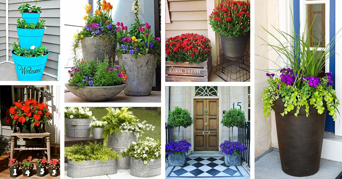 29 Best Front Door Flower Pots Ideas And Designs For 2017