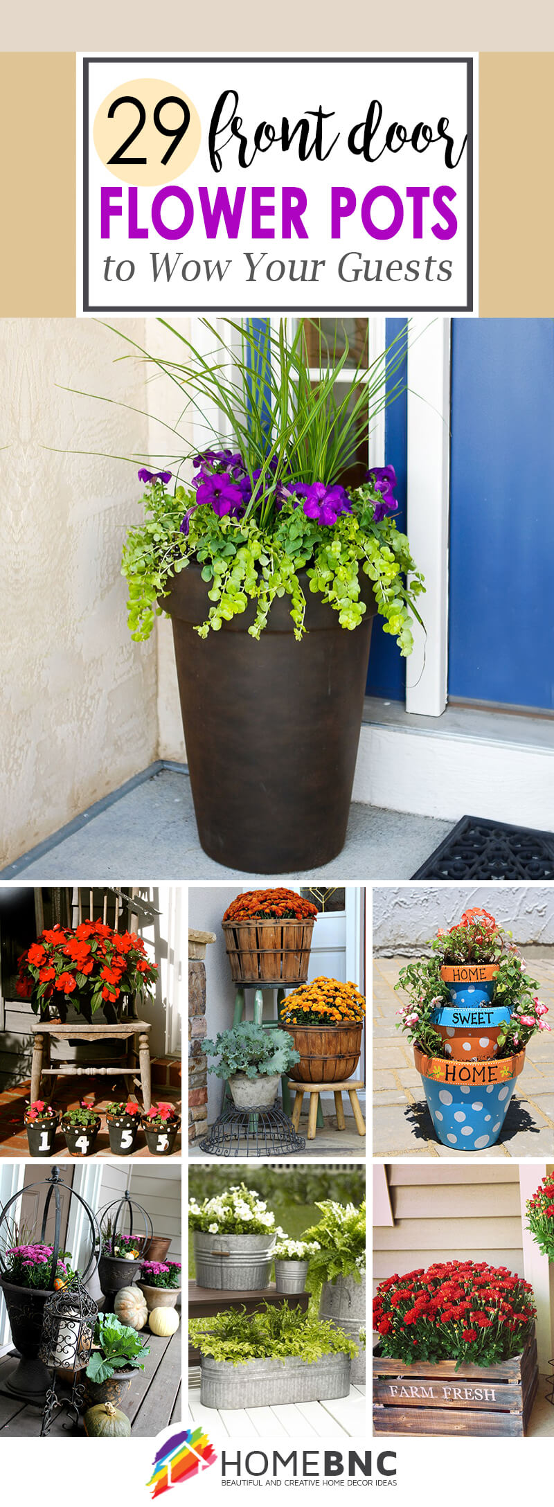 Front Door Flower Pot Ideas & 29 Best Front Door Flower Pots (Ideas and Designs) for 2019
