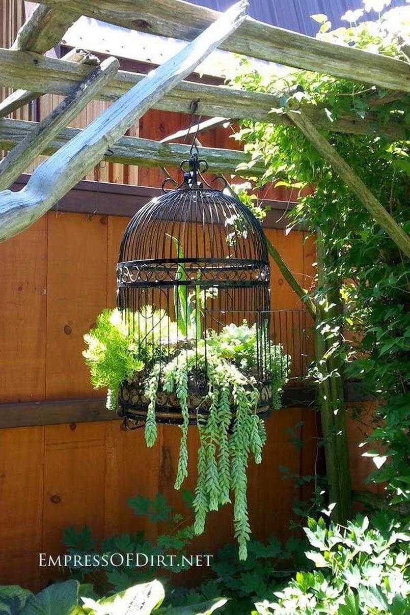 Antique Birdcage Hanging Decoration