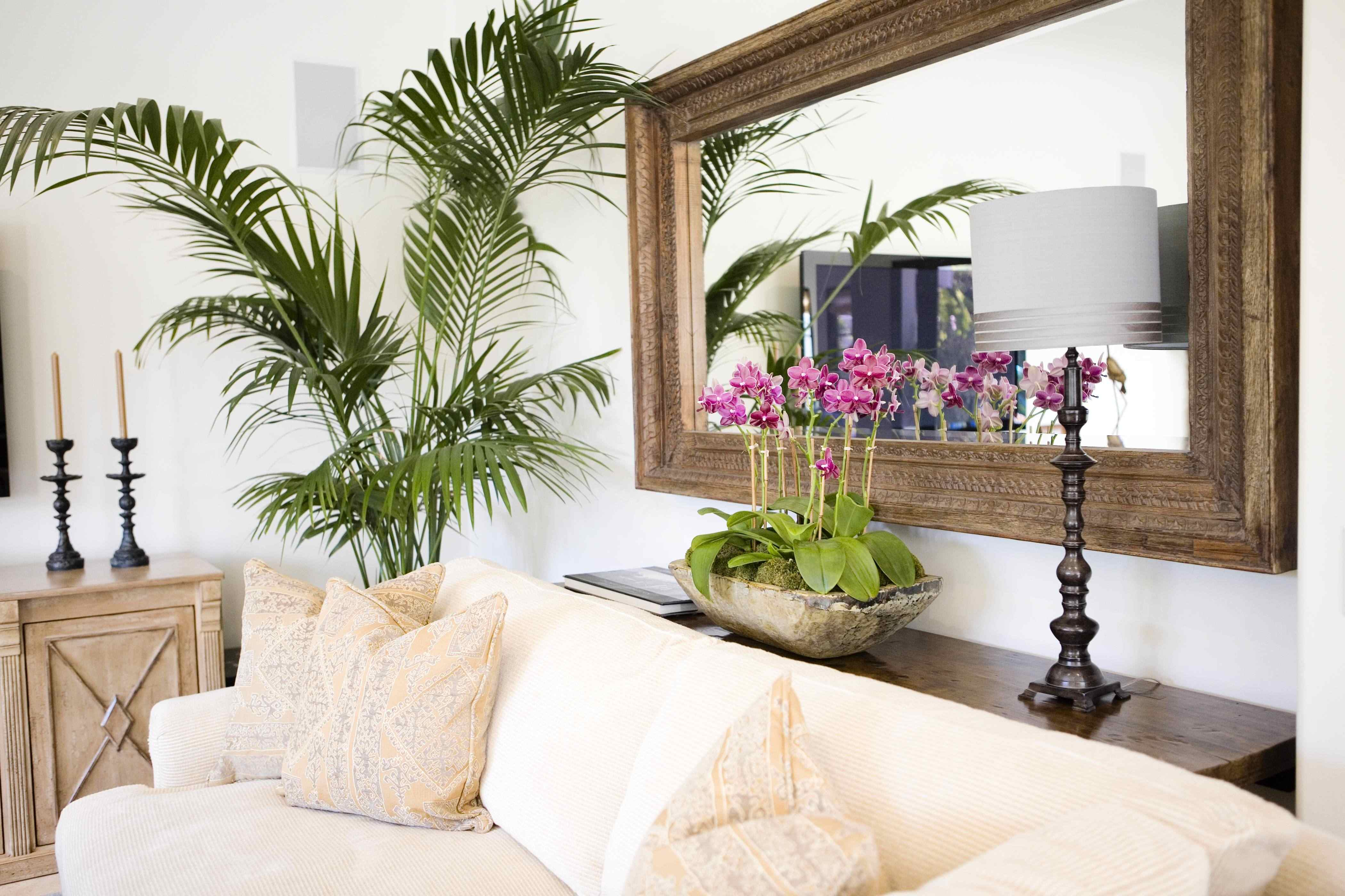 Turn Of The Century Havana Mirror and Tropical Foliage
