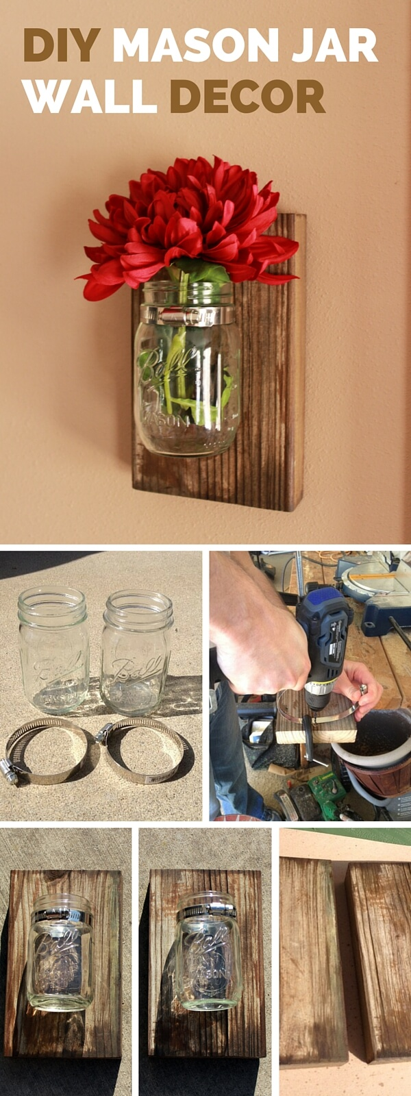 multi purpose repurposed mason jar decor - Diy Rustic Home Decor Ideas