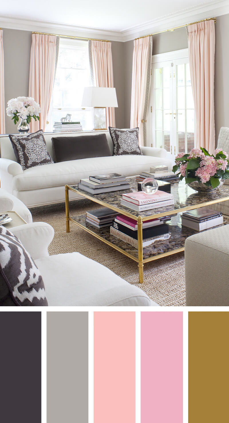 living room color design. 1  Pretty With Pink 7 Best Living Room Color Scheme Ideas And Designs For 2018