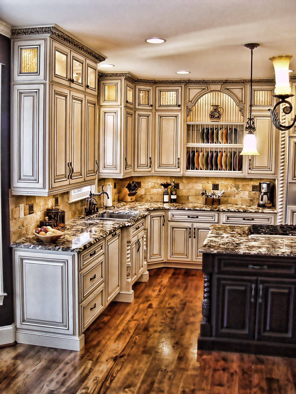 maison chic rustic kitchen cabinet designs - Kitchen Cabinet Ideas