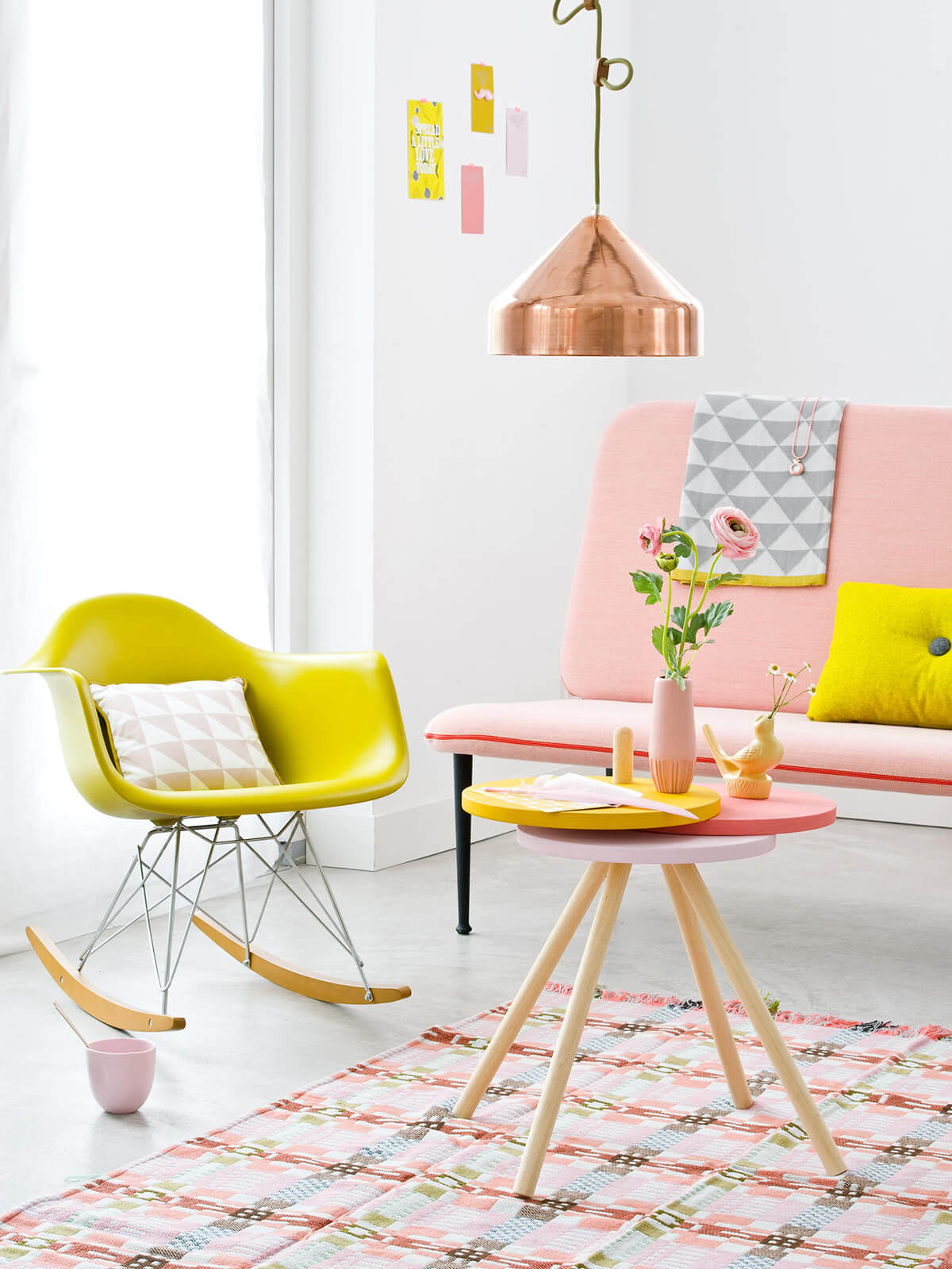 Pucker-Up Pink Lemonade Retro Sitting Room