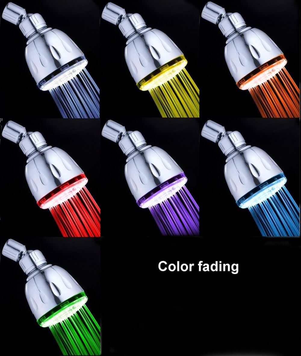 MagicShowerhead With Jet Spray and 7-LED Light Color Show