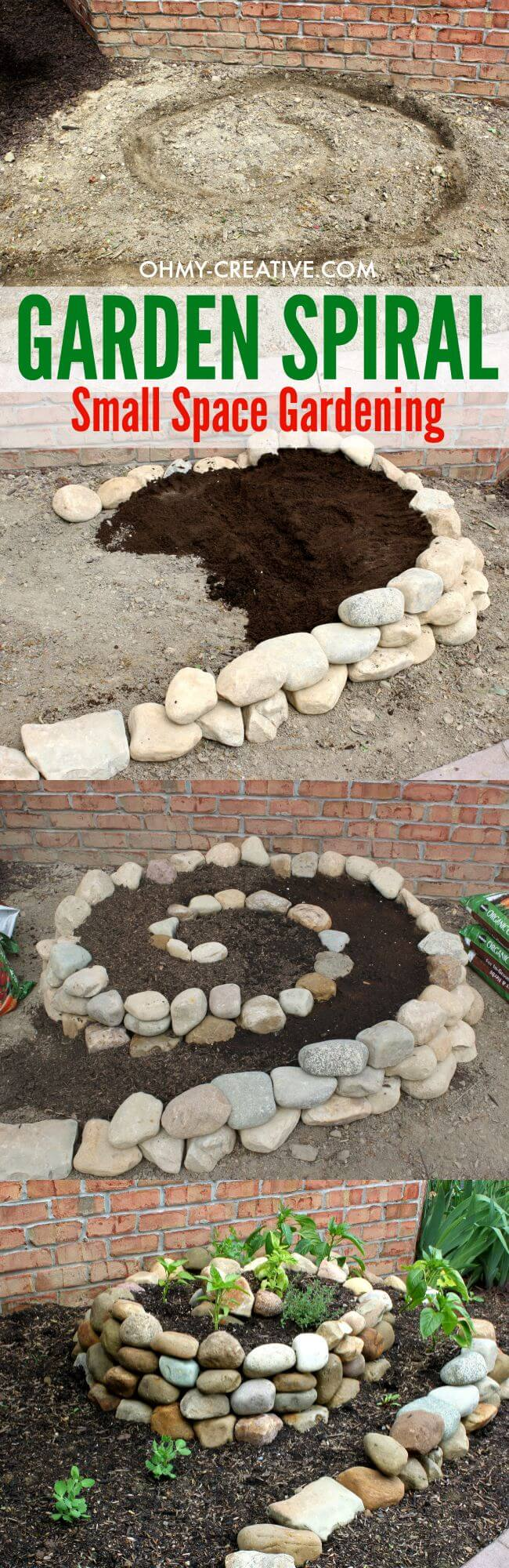 DIY Garden Spiral for Small Spaces