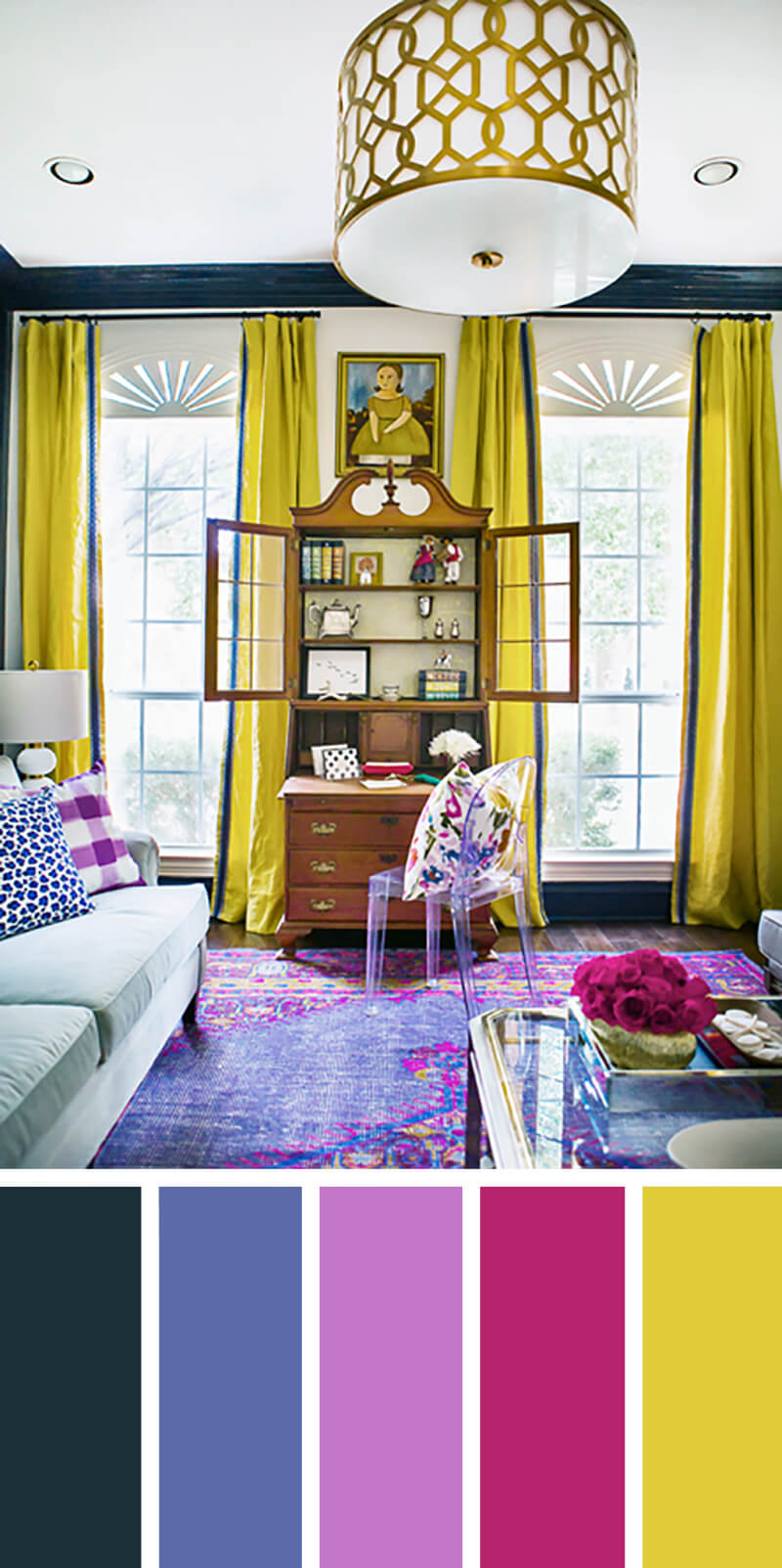 7 living room color schemes that will make your space look professionally designed decor10 blog Purple living room color schemes