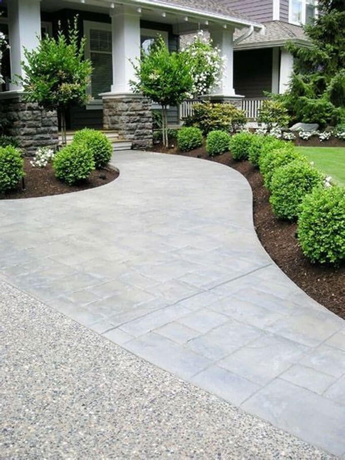 4 classic boxwood edged pathway - Front Garden Idea